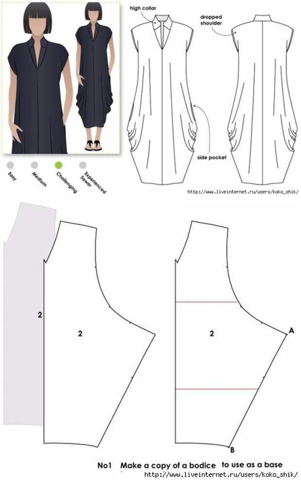 Выкройка платья в стиле бохо 2