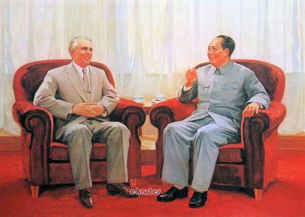 Албанский диктатор Ходжа и французский президент Де Голль: За Единую Европу