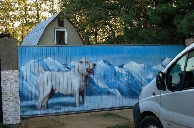 Когда дачник - художник!