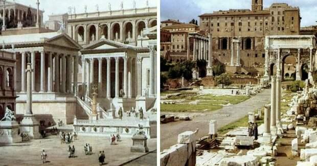 16 фото изменившихся известных мест, которые время разделило на тогда и сейчас