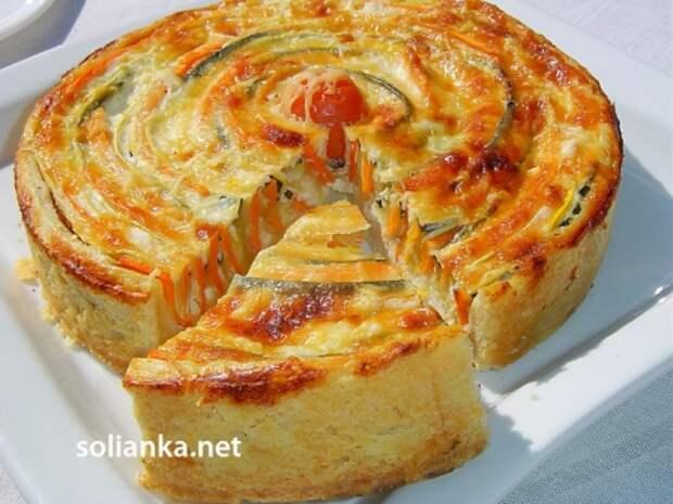пирог из овощей коронное блюдо