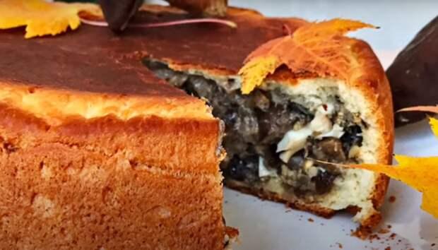 Пирог с лесными грибами (готовим в мультиварке)