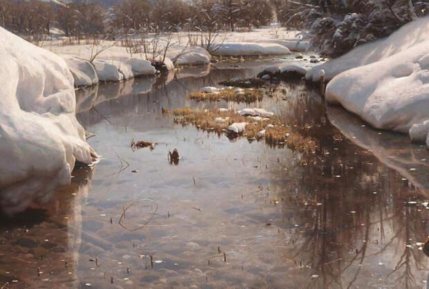 Cena de inverno em Engadin (Detalhe), Зимняя сцена в Энгадине, 1914 год