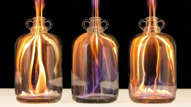 8 зрелищных опытов с огнем.