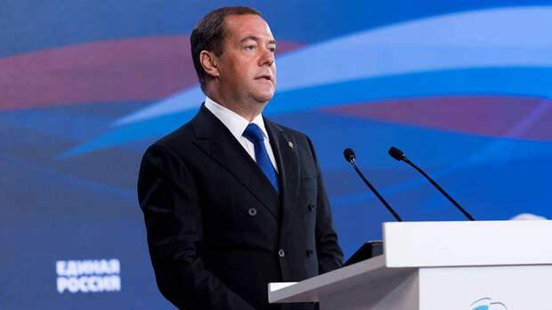 Пенсионную реформу нужно было принять: Медведев отчитался о достижениях «ЕР» и заявил о неизбежности победы на выборах