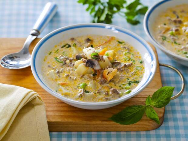 Грибной сливочный суп - вот самый лучший рецепт