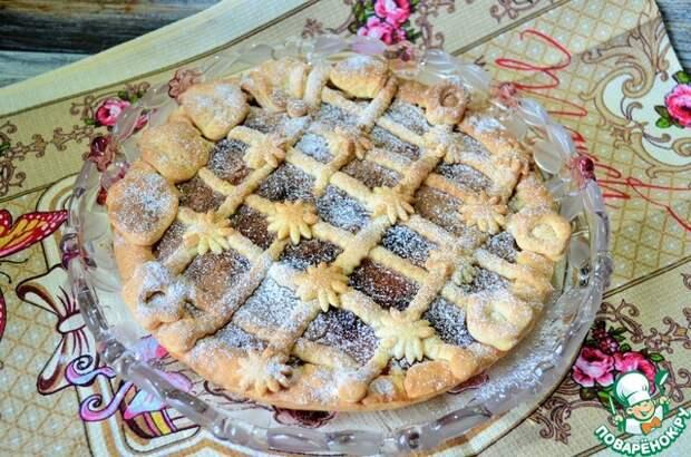 Пирог с вареньем на творожном тесте
