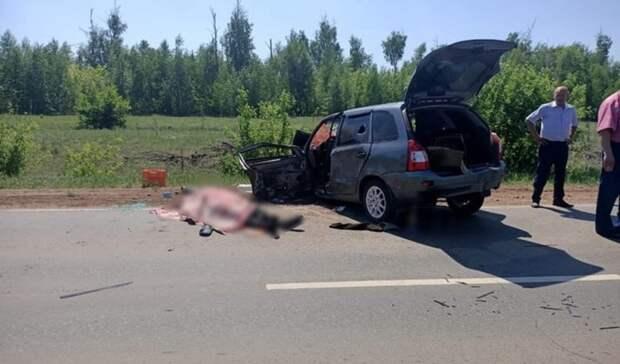 Водитель «Калины» погиб в столкновении с КамАЗом под Грачёвкой
