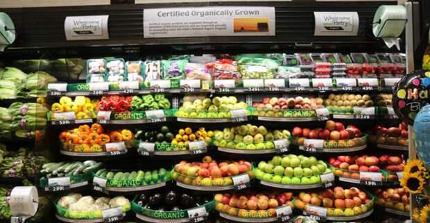 Органические продукты производят в основном агрохолдинги, а не мелкие фермеры. /Фото: supermarketnews.com