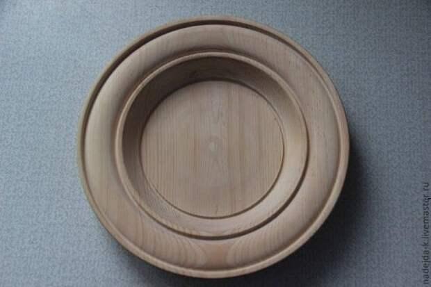 Резьба по дереву тарелки