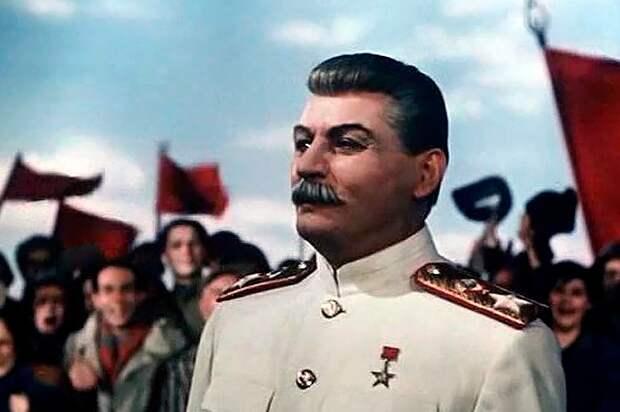 """Образ Сталина в к/ф """"Падение Берлина"""", 1949 г."""