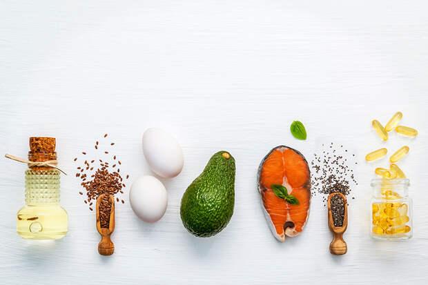 Семена чиа и другие продукты с омега-3