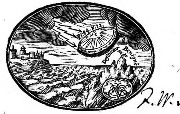 На обложке книги 18 века обнаружен НЛО