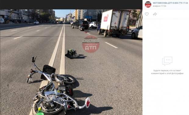 В аварии на Бутырской пострадал велосипедист