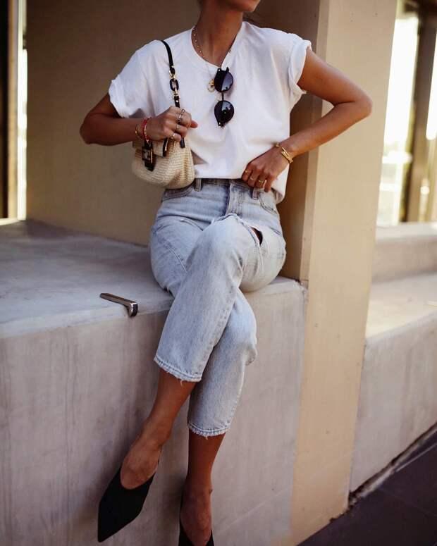 джинсы и футболка фото 6