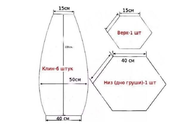 Выкройку любой формы легко найти в интернете / Фото: homius.ru