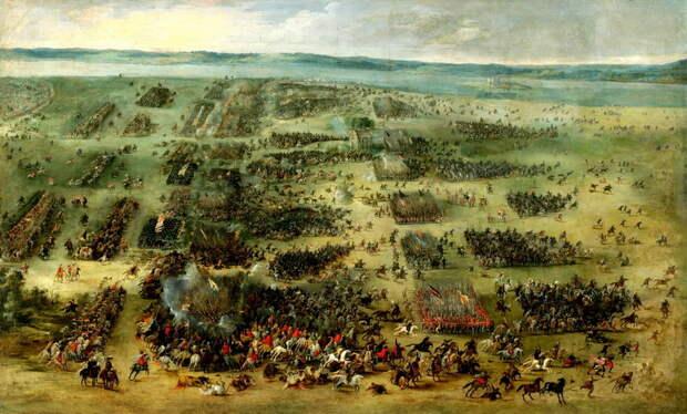 Битва под Кирхгольмом 1605 год. Художник Питер Снаерс (1630 год). В левом нижнем углу можно рассмотреть трёхшеренговый гусарский строй перед атакой - Гусария: modus operandi | Warspot.ru