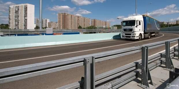 Проезд грузовиков по МКАД в районе Южное Тушино ограничат с 15 июня