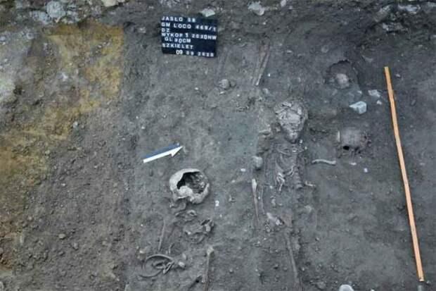 Кармелитовые скелеты, обнаруженные в польском туннеле из костей