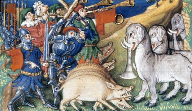 Свиньи против слонов и еще четыре самые странные битвы в истории войн