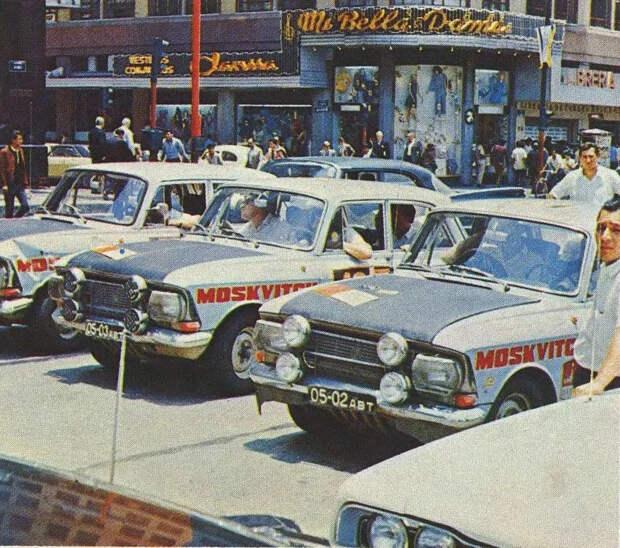 Реплика уникального раллийного Москвича-412, участвовавшего в грандиозном автомарафоне «Лондон-Мехико» 1970