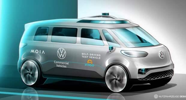 Volkswagen начнет тестирование автономного ID.Buzz в Гамбурге