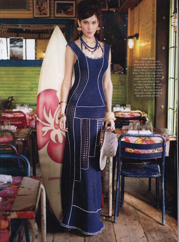 Вязаное крючком платье в пол Diy