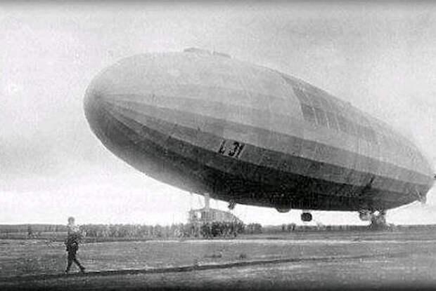 Морской цеппелин L-31 Генриха Мати перед последним вылетом на Британию