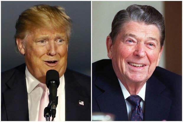 Дональд Трамп и Рональд Рейган