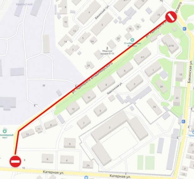 В Севастополе на месяц перекроют улицу Адмирала Владимирского