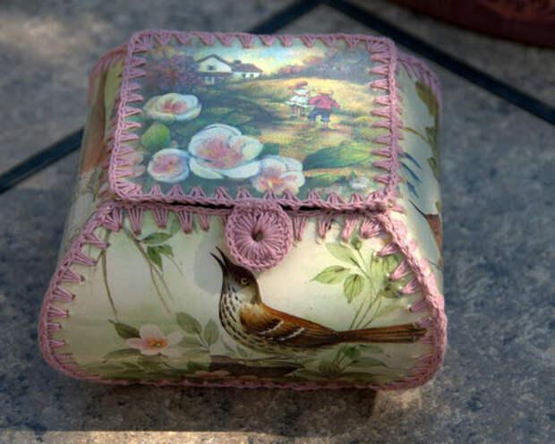 Подборка шкатулок и вызочек из  открыток