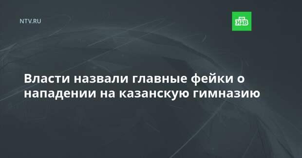 Власти назвали главные фейки о нападении на казанскую гимназию
