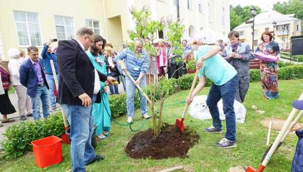Саженцы сирени посадили на открытии «Сиреневого фестиваля» в Подольске