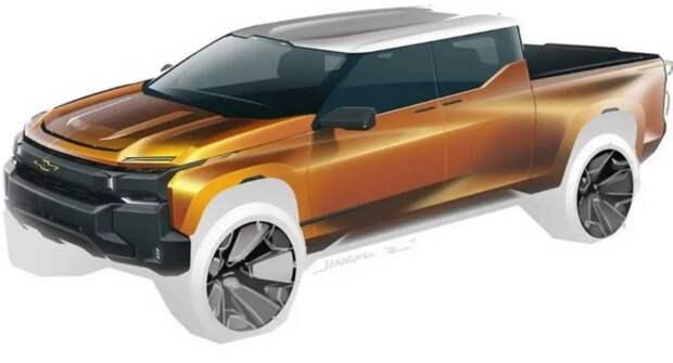 На рендерах представили радикальную эволюцию дизайна пикапа Chevrolet Silverado