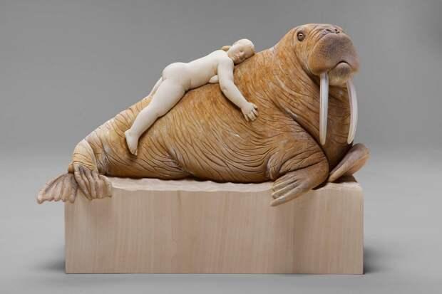 Ироничные деревянные скульптуры Матиаса Верджнера