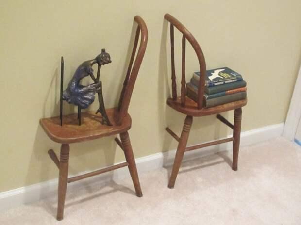 Полки из обрезков стульев