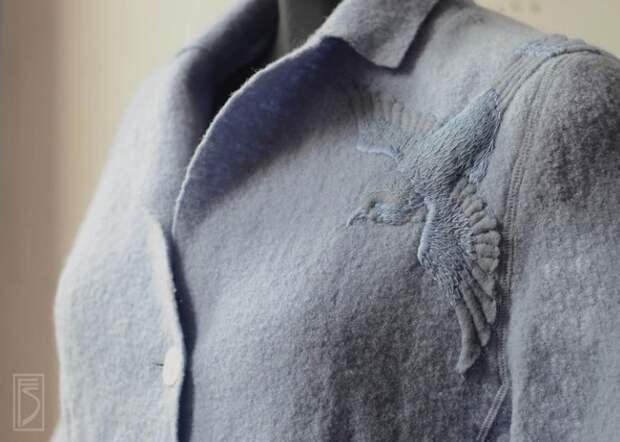 Объемная вышивка - синица и журавль (мастер-класс)