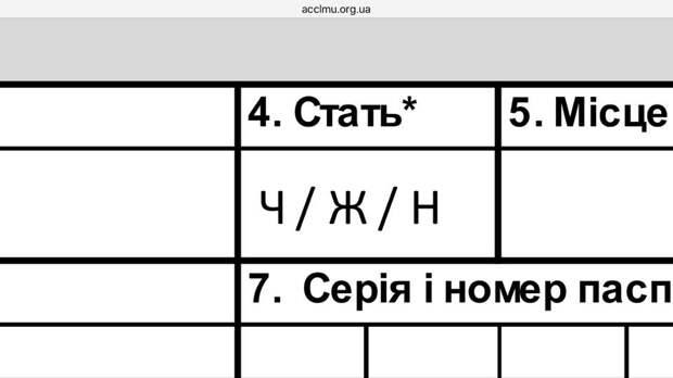 """На Украине ввели понятие """"человек неопределенного пола"""""""