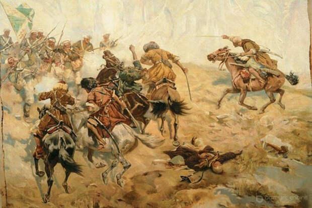 Мощный штыковой бой русских превосходил черкесов