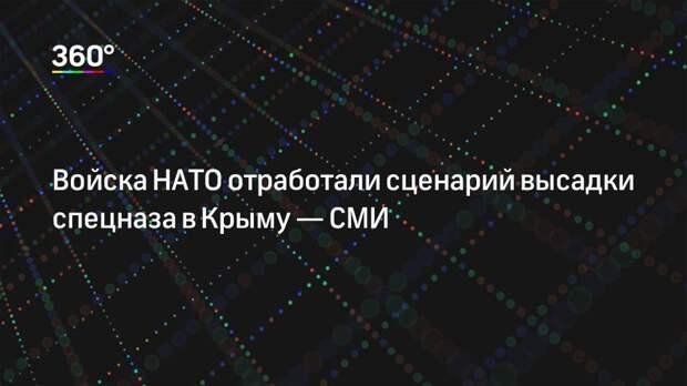Войска НАТО отработали сценарий высадки спецназа в Крыму— СМИ