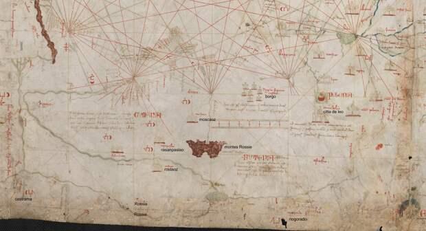 Русь на карте Анджелино Дульсерта (1339 г.)