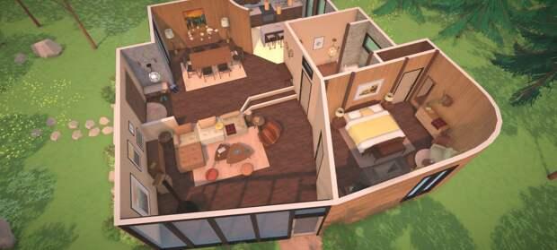 Строительство и обустройство дома в геймплее симулятора жизни Paralives
