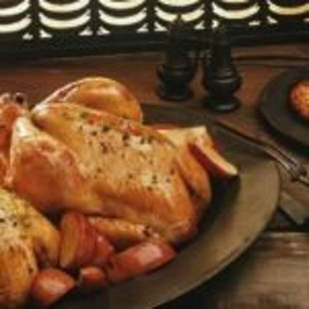 Пикантные цыплята с персиками