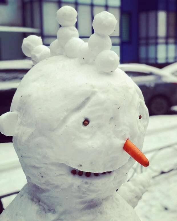 как слепить необычного снеговика идеи фото
