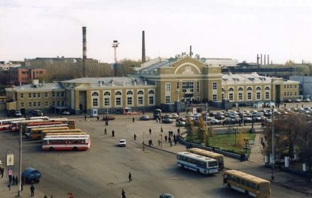 Омск, железнодорожный вокзал, 1990-е гг.