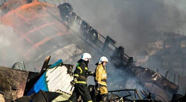 Взрыв газовой заправки в Новосибирске