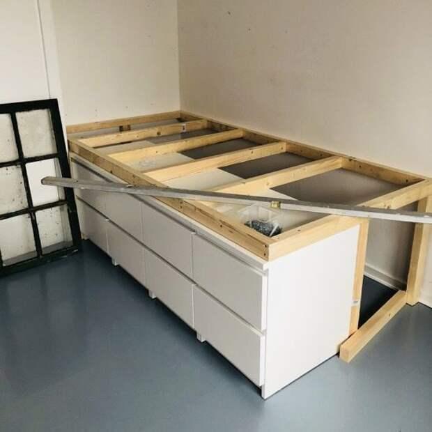 Бюджетные и функциональные идеи: кровать с дополнительным хранением