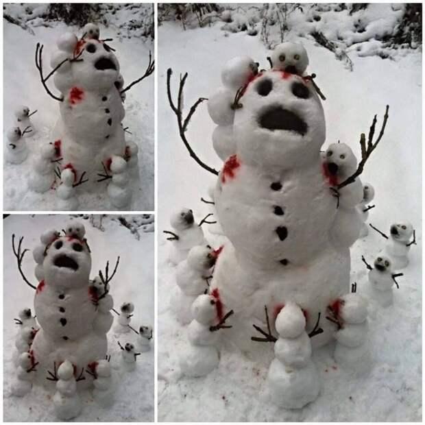 снежная баба идеи