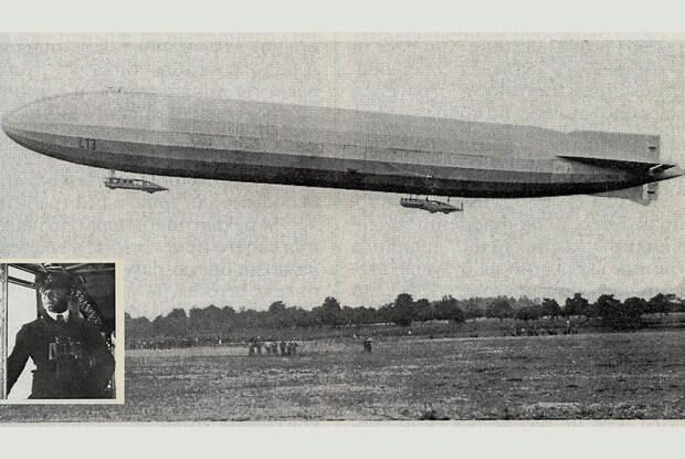 Цеппелин L-13 Генриха Мати во время налетов на Британию