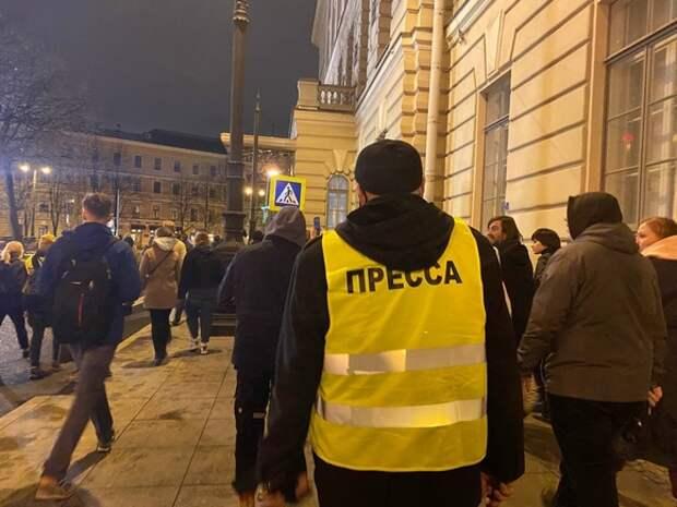 Полицейский не пропустил журналистов «Росбалта» на Невский из-за отсутствия в редакционном задании списка улиц Петербурга
